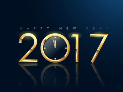 New Year Drack Background Design Vector