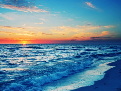 Ocean Sunset Background Image