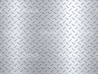 Of Metal Diamond Plate In Silver Color Background