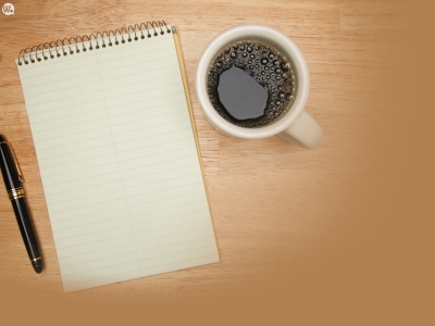 Office, Coffee, Pencil, Notebook, Desk Background