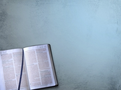 open bible and blue background #14868
