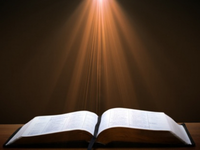 open bible light rays motion worship background #14860