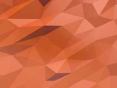 Orange Low Poly Background