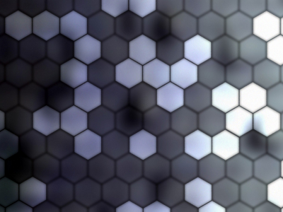 Pattern Gray Hexagons Wallpaper