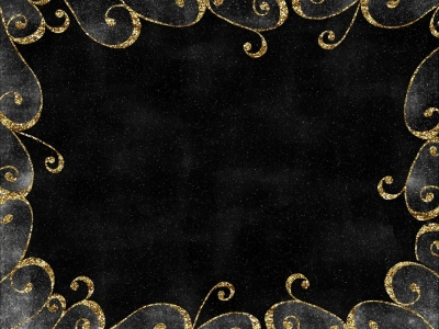 Photo Black Background With Gold Edge And Gold Trim Black
