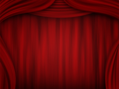 Pin Powerpoint Red Stage Curtains