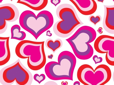 Pink Heart Pattern Background Picture