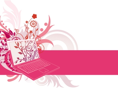 Pink Laptop Animated PowerPoint Background #6390
