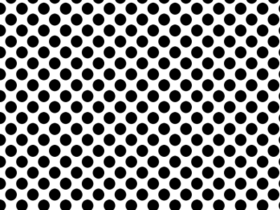 Polka Dots White Background With Black