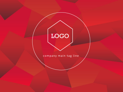 Polygon Logo Background Vector