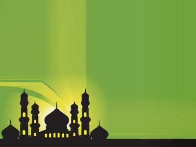 ppt silhouette of mosques islamic  frames