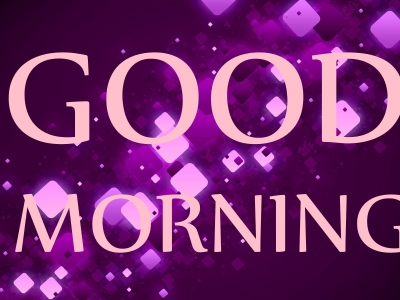 purple good morning background #2467