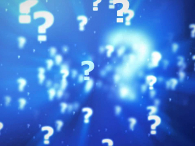 Question Mark Animation Blue Background