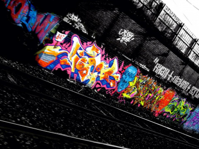 Railway Graffiti Wallpaper Image