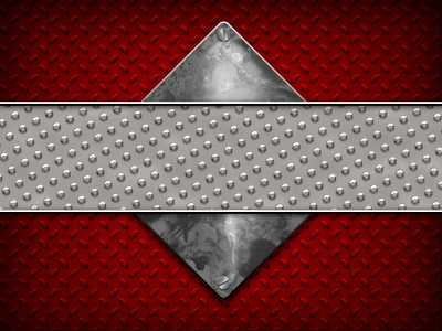Red And Gray Diamond Plate Background