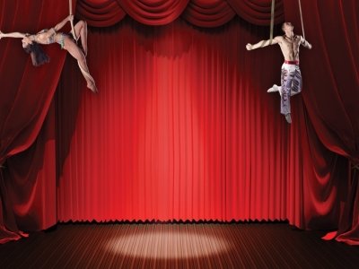 Red Fantastic Circus Background