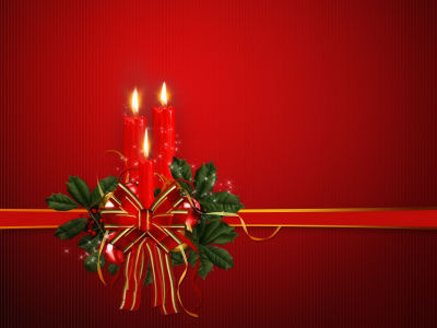 Red Free Christmas Wallpaper