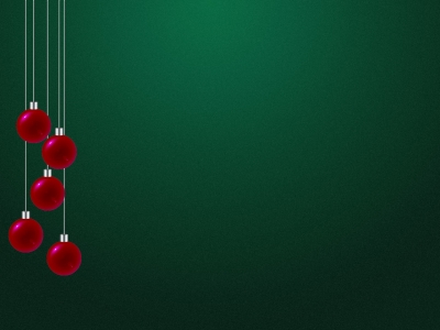 Red Green Christmas Background