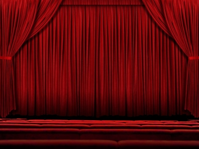 Red Stage Backgrounds For Powerpoint Presentations