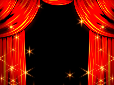 red stage curtain background picture #6638