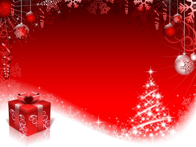 Red Style Christmas Background