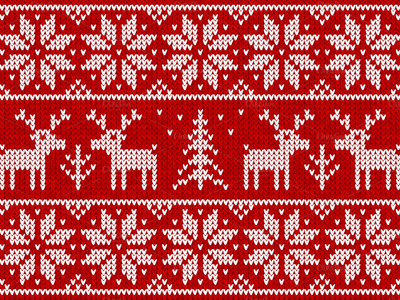 Red Ugly Christmas Sweater Background