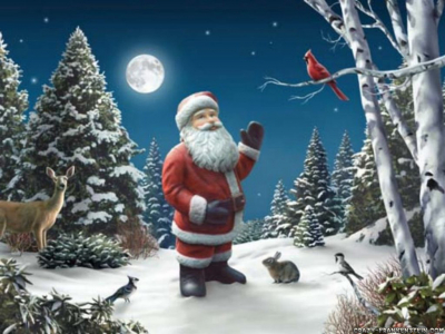 Santa Claus Cool Art