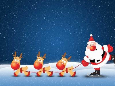 Santa Claus Background Template