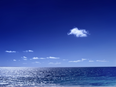 Sea With Clouds Background