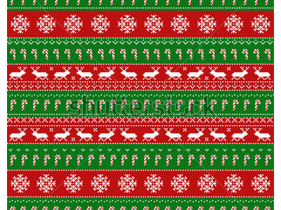 Seamless Pattern With Classic Ugly Sweater Motifs Background