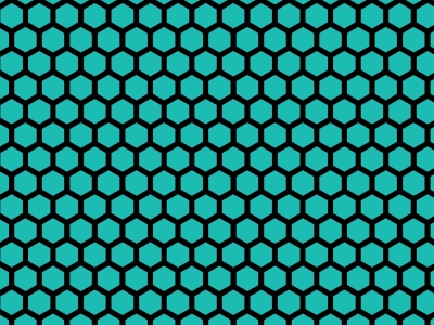 Simole Colorful Hues Hexagon Honeycomb Background