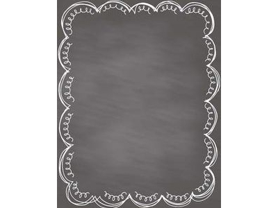 simple chalkboard background with border #12462