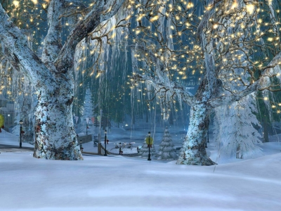 Spectacular Winter Holiday Wallpaper