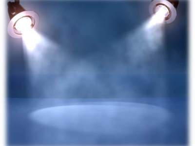 spotlights blue unique powerpoint background #1824