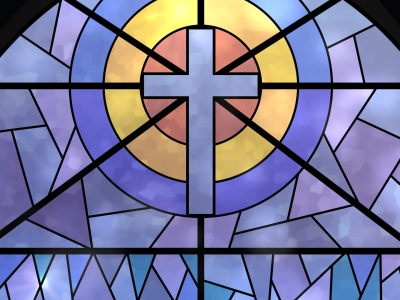 Stained Glass Window Background