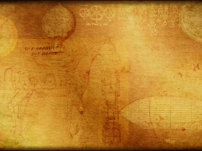 Steampunk Inspired Wallpaper,texture,background With Clocks And Gears