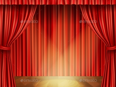 Theater Stage Background Decorative