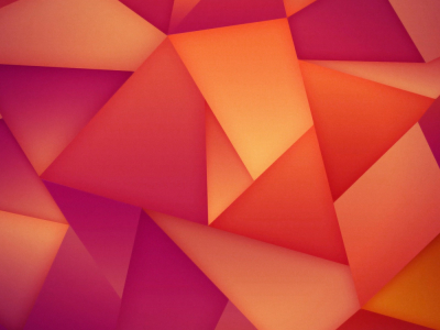 Triangles Abstraction Orange Background