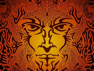 Tribal Statue Background