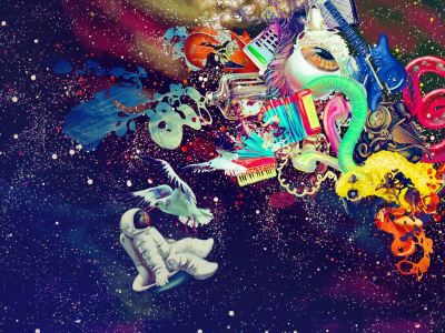 Trippy Space Psychedelic Wallpaper