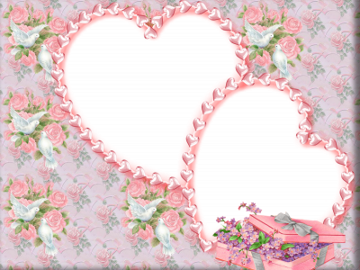 Two Hearts Wedding Frame Background
