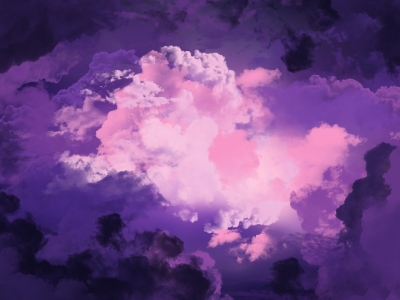 Two Magical Purple Sky Background Clipart