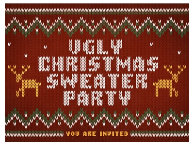 Ugly Christmas Sweater Party Background