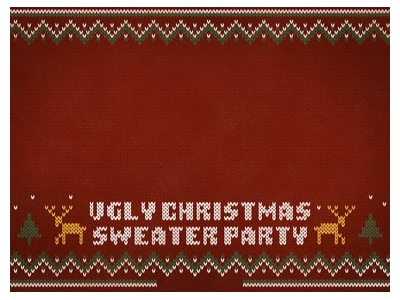 Ugly Christmas Sweater Party Walpaper Images