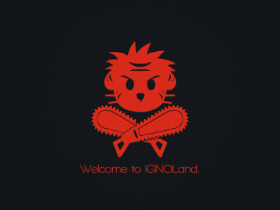 Welcome To Ignoland Logo Wallpaper