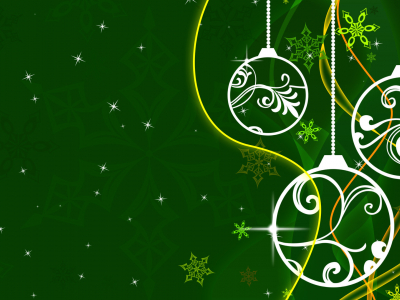White Green Christmas Background