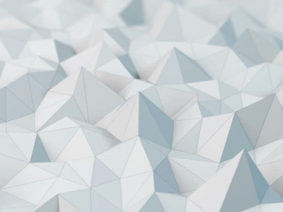 White Low Poly Abstract Background