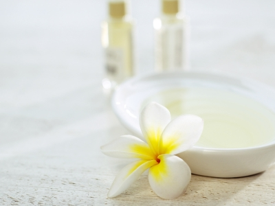 White Spa Background