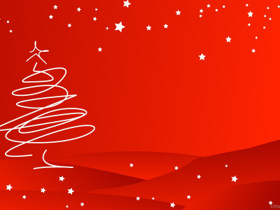 winter, christmas tree, holiday ppt background #1035