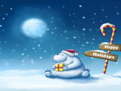 Winter Happy Holiday Background